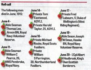 Remembering the Fallen June 1914