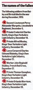1512 December  Poppy List